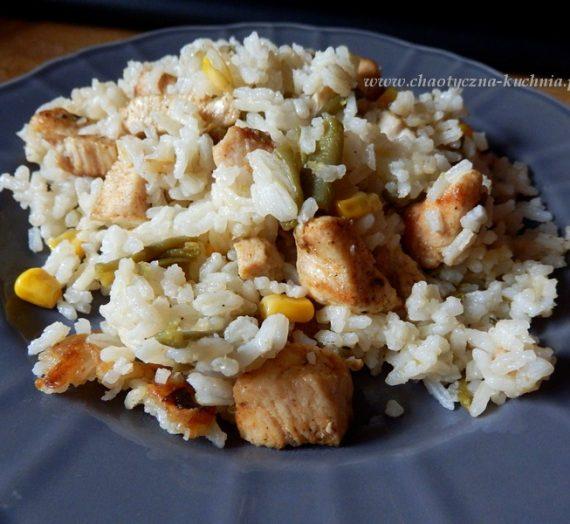 Ryż a'la risotto z kurczakiem i warzywami