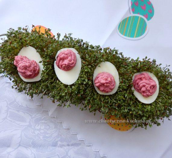Pasta jajeczna z burakami
